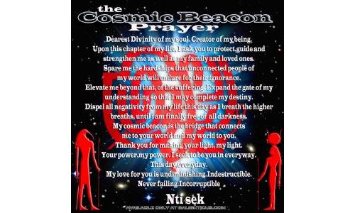 The Cosmic Beacon Prayer